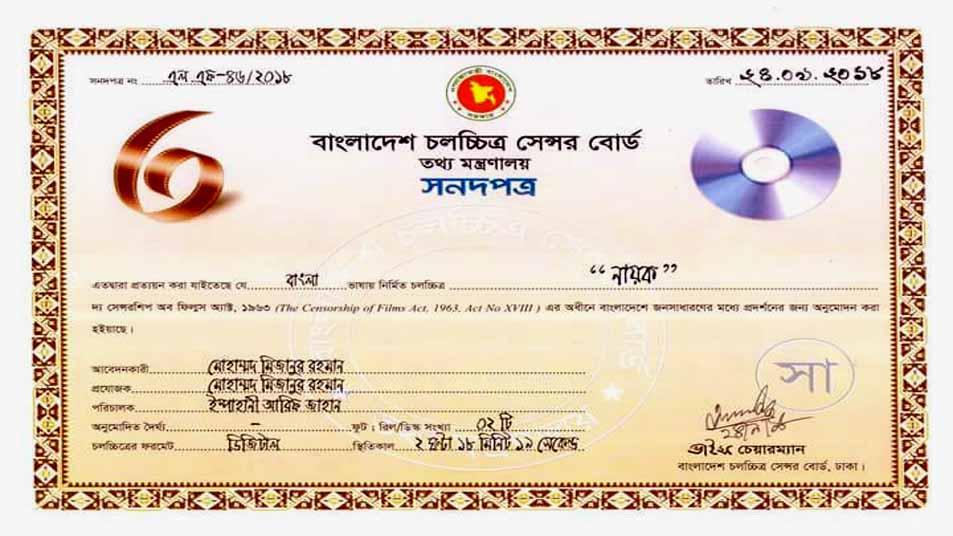 আনকাট সেন্সর পেলো বাপ্পী-অধরার 'নায়ক'