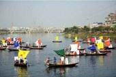 জাতীয় পাট দিবস উপলক্ষে হাতিরঝিলে নৌ-র্যালি